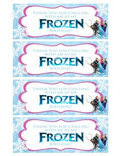 It's just a picture of Astounding Frozen Party Bag Labels