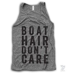 Jacquie....Boat Hair Don't Care Tank