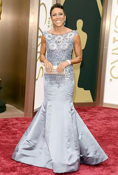 Oscars 2014 - Robin Roberts - stunning and classy as always