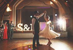 The First dance of the bride and groom from a 1950s inspired village hall wedding | Photography by http://www.jenmarino.com/