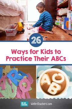 26 Fun, Easy Ways for Kids to Practice Their ABCs. Alphabet activities rule the early childhood classroom. Here are 14 different ways to give kids the practice they need to be ready to read. Teaching First Grade, First Grade Teachers, Teaching Kindergarten, Preschool Learning, Teaching Ideas, Alphabet Songs, Learning The Alphabet, Alphabet Activities, Educational Activities For Kids