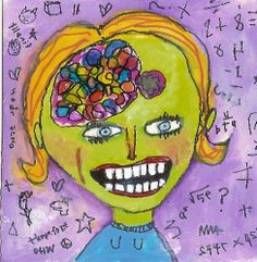 Right Brained  naive outsider art quirky by MurphyAdamsStudio, $75.00
