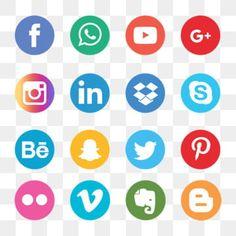 Black Social Media Icons, Social Icons, Social Media Logos, Vector Whatsapp, Whatsapp Logo, Icon Set, Icon Design, Adobe Illustrator, Social Media