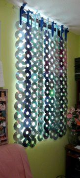 como hacer una cortina de cd reciclados - Buscar con Google