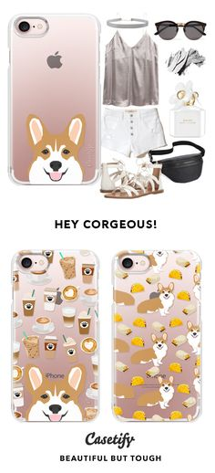 Browse through these top designs and style up your tech game with these stylish phone cases. Cute Phone Cases, Iphone 7 Plus Cases, Iphone 4s, Animal Funnies, Funny Animals, Iphone Seven, Lazy Dogs, Selling Design, Corgi Dog