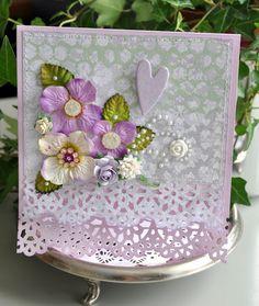 Some feminine cards, -mixed media 'light'. Embellishments, Mixed Media, Card Making, Feminine, Paper, How To Make, Cards, Heaven, Design