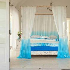 Tenda di ombre ciano Tie-Dye