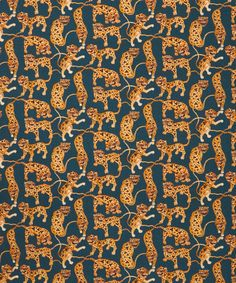 Liberty Art Fabrics Heads and Tails Saville Poplin | Home |  Heads and Tails Liberty print is a chaotic streak of exotic Caspian tigers twist and tumble during their migration through the heart of China.
