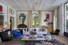 Conexão Décor tapetes na decoração tapetes para 1001 ambientes. ambiente de Paola Ribeiro para o CasaCor Rio 2016 com 3 tapetes sobrepostos http://conexaodecor.com/2017/05/tapetes-dos-1001-ambientes/