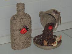 кофейные вытворялки — декорируем бутылки кофе,шпагат+кофе | OK.RU