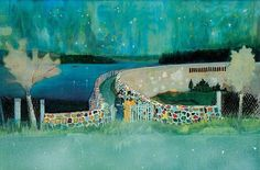 Peter Doig- I love the sense of mystery yet simplicity in doigs panting. The paining feels almost dream like with the turquoise tones and colourful brick work
