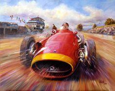 Grand Prix, Speed Art, Pretty Cars, Garage Art, Car Illustration, Car Posters, Vintage Race Car, Car Drawings, Automotive Art