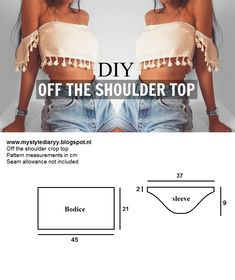 DIY OFF THE SHOULDER CROP TOP | MYSTYLEDIARYY