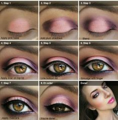 Sugar Plum Smokey eye how to done with Kleancolor Eye Palette in Cherry Culture