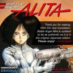 'Battle Angel Alita' Manga is Back… only on comiXology & Kindle