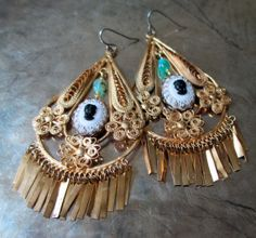 CLEOPATRA earrings by TheFrenchCircus on Etsy, $80.00