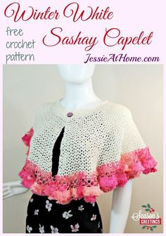 Winter White Sashay Capelet free crochet pattern by Jessie At Home