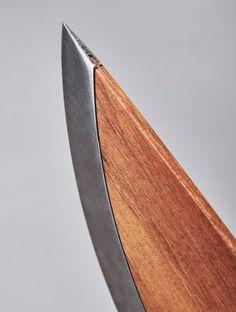 Ergonomics Knife Material Break Metal Silver steel Unibody Wood