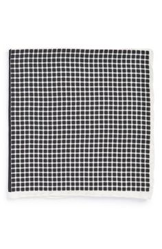 Men's John W. Nordstrom Silk Pocket Square - Black