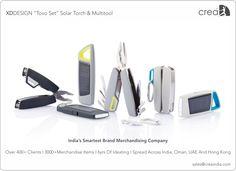 XDDESIGN Tovo set solar torch & multitool for corporates by Crea - India's smartest brand merchandising company.