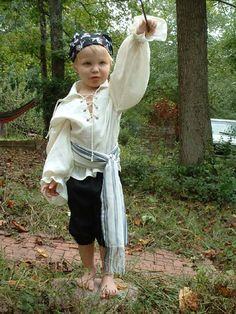 B 171  Made to Order   Awesome Pirate Renaissance Shirt Lace Up Front Child's 10