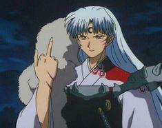 Middle finger up Lord Sesshomaru Amor Inuyasha, Inuyasha Memes, Inuyasha Funny, Inuyasha Fan Art, Inuyasha Love, Anime Meme, Seshomaru Y Rin, Inuyasha Cosplay, Inuyasha And Sesshomaru