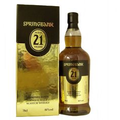 Springbank 21 year old 2012 Release Single Malt Whisky available to buy online… Gentlemans Club, Whiskey Bottle, Vodka Bottle, Whisky Shop, Wine Drinks, Beverage, Single Malt Whisky, 21 Years Old, Scotch Whisky