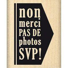 Border Line - Tampon Bois - Pas de Photos - 2,9 x 4,5 cm