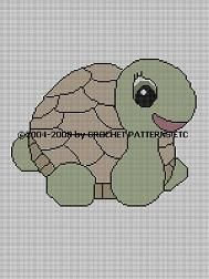 Turtle Crochet Pattern Afghan Graph