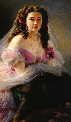 Varvara Dmitrievna Rimskaya Korsakova by Franc Xavier Winterhalter