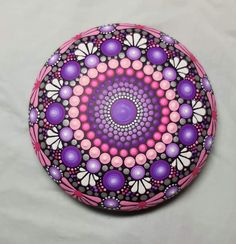 Dot Art Painting, Mandala Painting, Painting Patterns, Mandala Art, Stone Painting, Coaster Design, Mandala Rocks, Rock Design, Rock Art