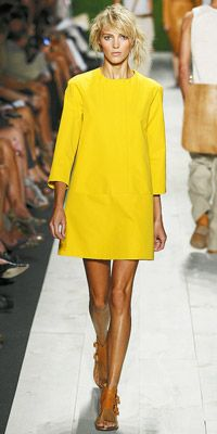 Love this bright yellow dress by Michael Kors