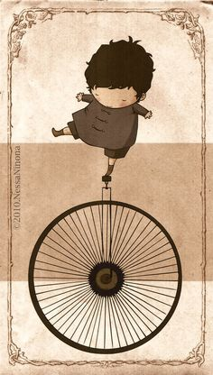 A unicycle by Vanessa-Ninona Illustration Photo, Graphic Design Illustration, Desenho Kids, Monocycle, Bicycle Art, Illustrations And Posters, Painting & Drawing, Rock Painting, Whimsical Art