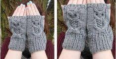 Kuvahaun tulos haulle owl fingerless gloves knitting pattern free