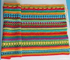 Crochet Along Regenbogen Babydecke Teil 5 - https://schoenstricken.de/2013/11/crochet-along-regenbogen-babydecke-teil-5/