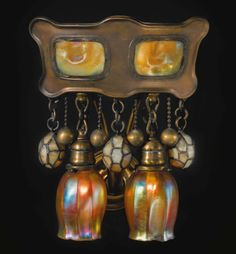 tiffany studios moorish turtle back wall sconce sotheby's Antique Lamps, Antique Lighting, Vintage Lamps, Tiffany Art, Tiffany Glass, Art Nouveau, Chandeliers, Tiffany Chandelier, I Love Lamp