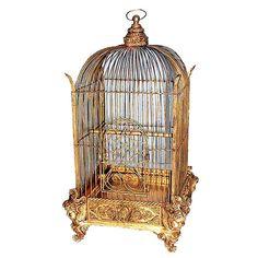 Conservatory Bird Cage Gold Finish - Victorian Birdcage - Decorative Birdcage