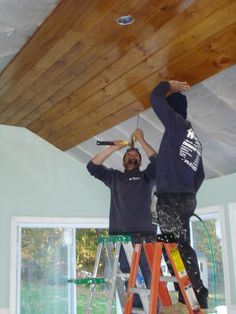 knotty pine ceiling planks - Google Search