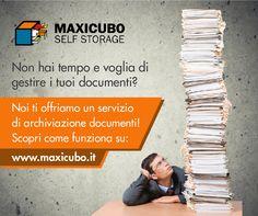 Non sprecare tempo, lascia a noi il compito di archiviare e gestire i tuoi documenti!! http://www.maxicubo.it/service-category/servizi/ #Maxicubo #Selfstorage #Bergamo