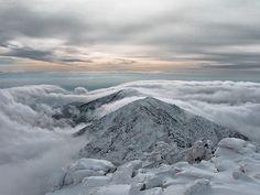 Vista desde La Mira (Galayos) a punto de nevar, en un día muy frío
