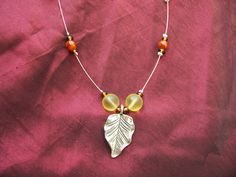 Fall is in the Air Handmade Necklace Light by ReprievesCorner, $19.99