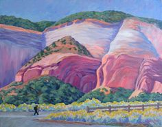 """""""Entrance to Echo Amphitheatre"""" by Robert G. Stevens (1926 - 2004) - Acrylic by late father, landscape painter and illustrator."""