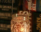 upcycled jar candle light. <3