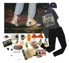 """""""ur local psycho"""" by hobojuice ❤ liked on Polyvore featuring Brandy Melville, Laura Urbinati, Bardot, Amber Sun, AIAIAI, WALL, Converse, Hipster, indie and grunge"""