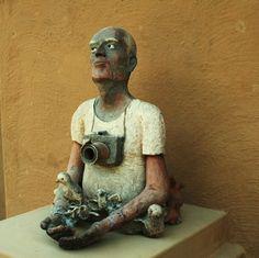 Figurative Pottery art at Sanskriti Kendra