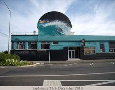The Wave,New Brighton, Christchurch, New Zealand New Brighton, New Zealand, Gate, Clouds, Sun, Travel, Viajes, Portal, Destinations