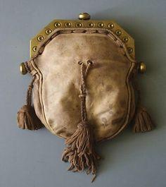 Jacobite Sporran. Leather and Brass. Circa 1745.