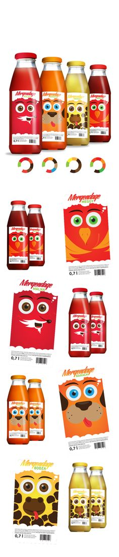 Mergendage Szörpök by Matyas Szabo, via Behance: your daily #packaging smile : ) PD