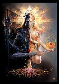 The perfect balance of masculine and feminine. Shiva and Parvati. Shiva and Shakti