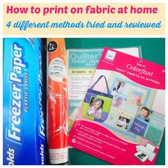 4 different methods for how to print on fabric at home are tested and reviewed. If you want to print photos on fabric or print your own fabric, check this!